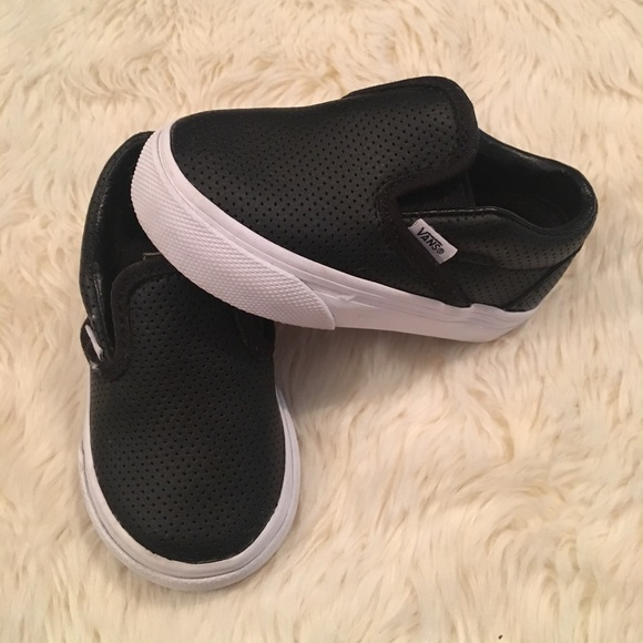ce6991a76f Vans - Toddler Perforated Leather Slip Ons. M 5c3198712e1478957ffc3ebd
